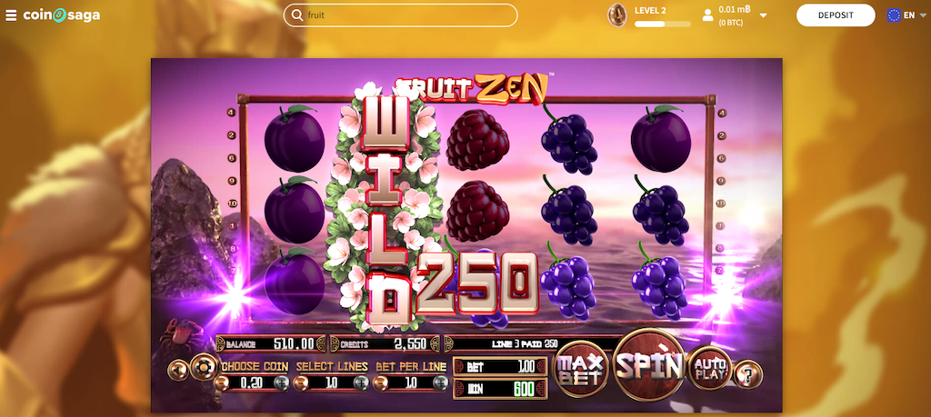 Fruit Zen Slot Payouts