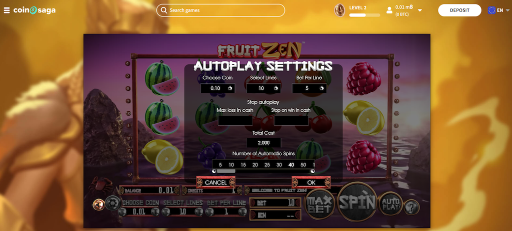 Fruit Zen Slot Game paylines