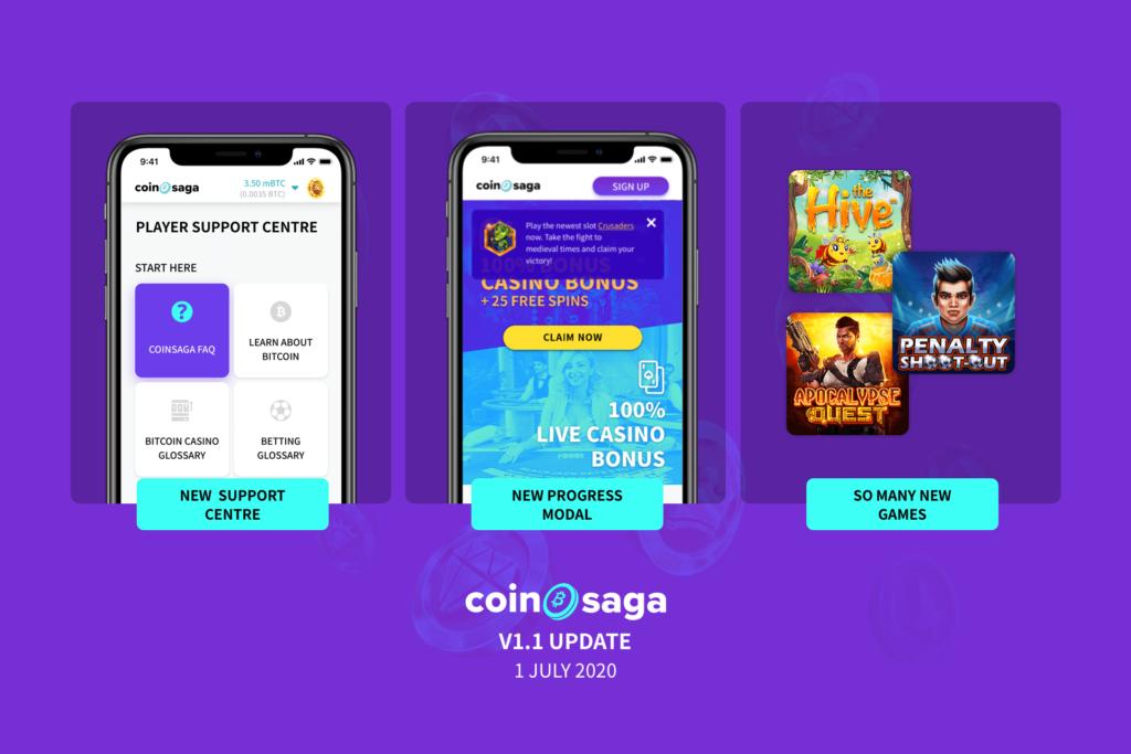 CoinSaga Bitcoin Casino Update