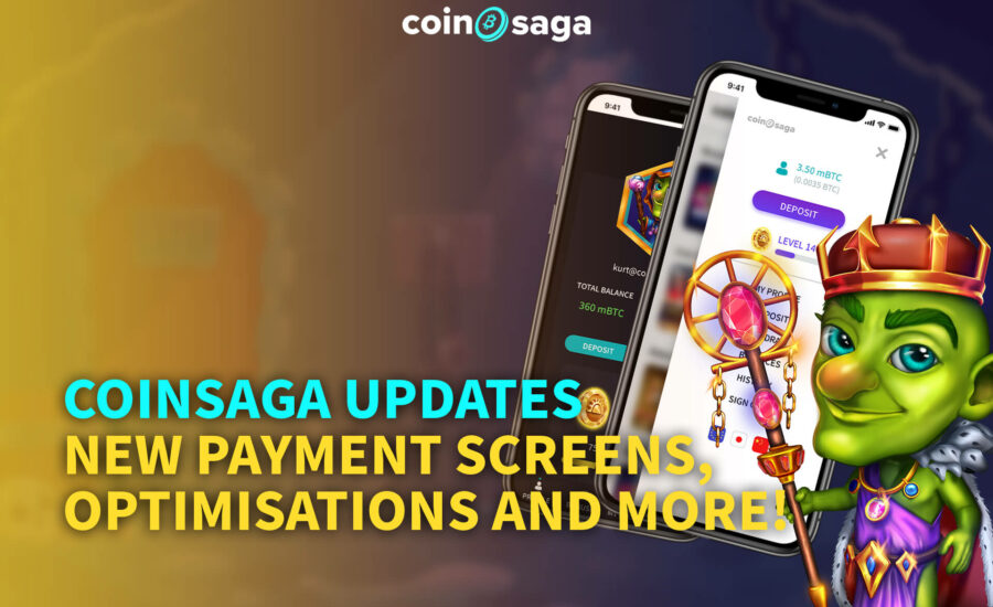 CoinSaga Updates – New Payment Screens, Optimisations and more!