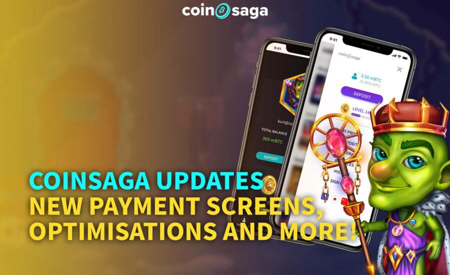 CoinSaga Bitcoin Online Casino Update