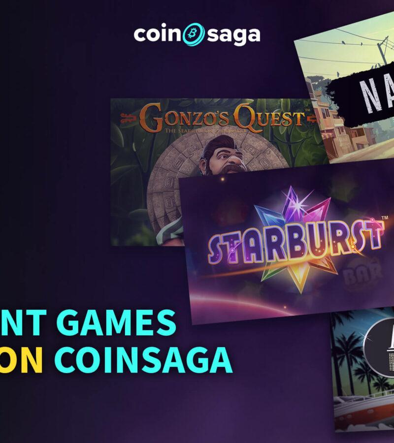 NetEnt games live on Coinsaga Bitcoin Casino