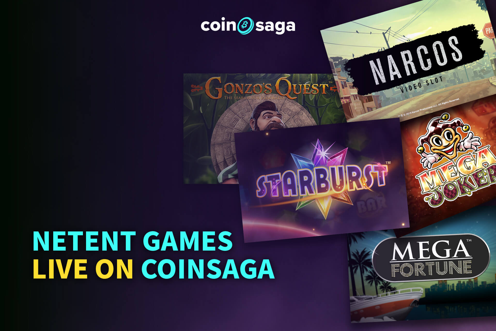 netent games live on coinsaga